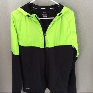 Nike Running Dri-Fit Zip Front Hooded Jacket